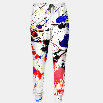 Blue Red Black Paint Splatter Sweatpants thumbnail image