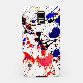 Blue Red Black Paint Splatter Samsung Case thumbnail image