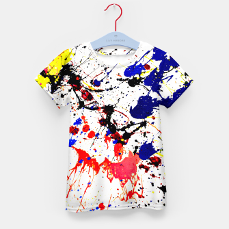 Blue Red Black Paint Splatter Kid's T-shirt thumbnail image