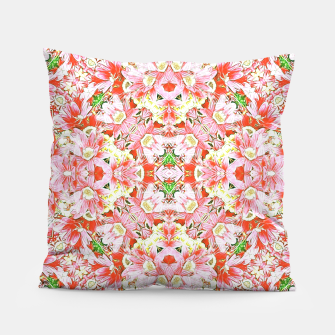 K196 Abstract Pink Flowers  Pillow thumbnail image