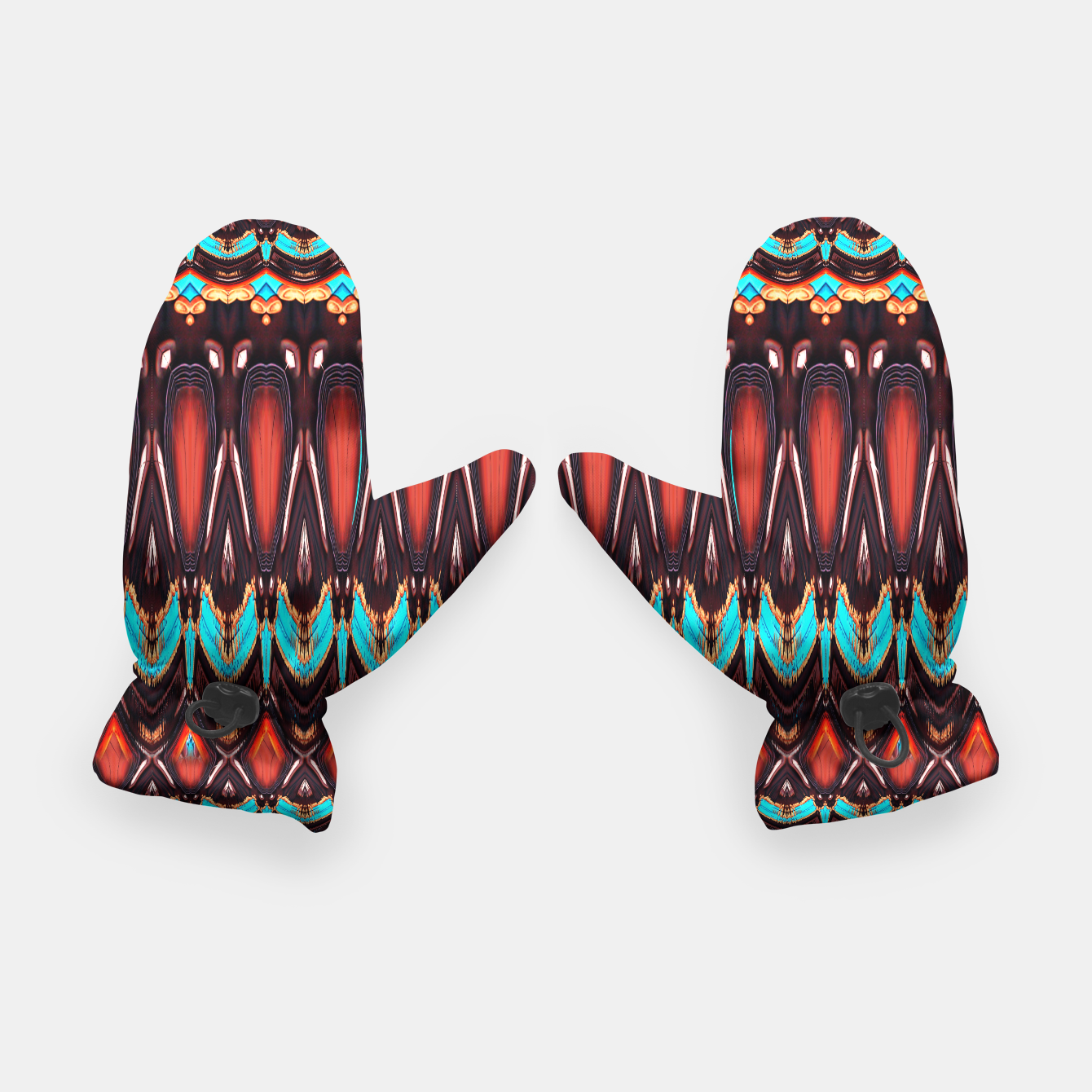 Image of K172 Wood and Turquoise Abstract Gloves - Live Heroes