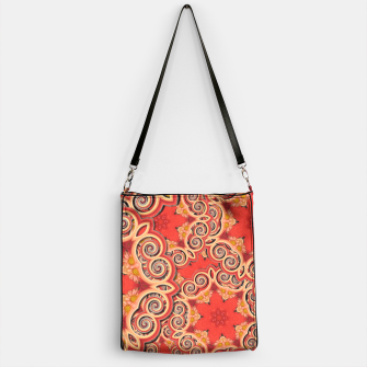 Gold 'n Rusty Curls Abstract  Handbag thumbnail image