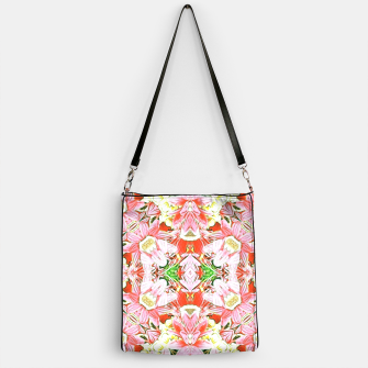 K196 Abstract Pink Flowers  Handbag thumbnail image