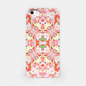K196 Abstract Pink Flowers  iPhone Case thumbnail image