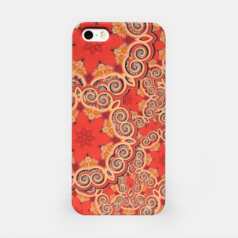 Gold 'n Rusty Curls Abstract  iPhone Case thumbnail image