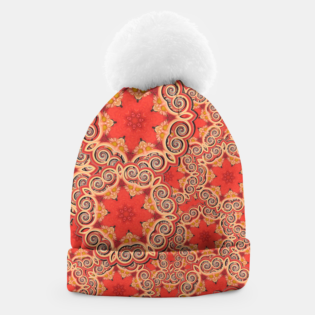 Image of Gold 'n Rusty Curls Abstract  Beanie - Live Heroes