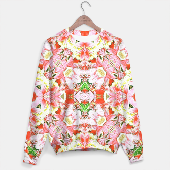 K196 Abstract Pink Flowers  Sweater thumbnail image