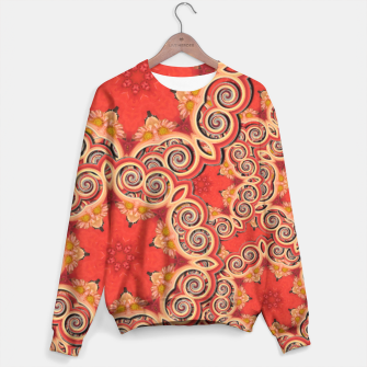Gold 'n Rusty Curls Abstract  Sweater thumbnail image