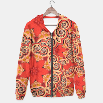 Gold 'n Rusty Curls Abstract  Hoodie thumbnail image