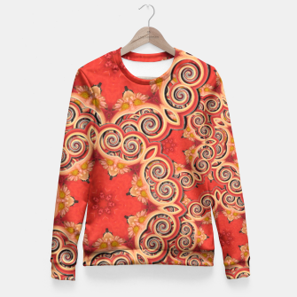 Gold 'n Rusty Curls Abstract  Fitted Waist Sweater thumbnail image