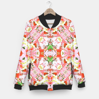 K196 Abstract Pink Flowers  Baseball Jacket thumbnail image