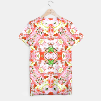 K196 Abstract Pink Flowers  T-shirt thumbnail image
