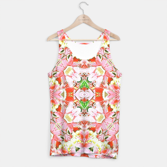 K196 Abstract Pink Flowers  Tank Top thumbnail image