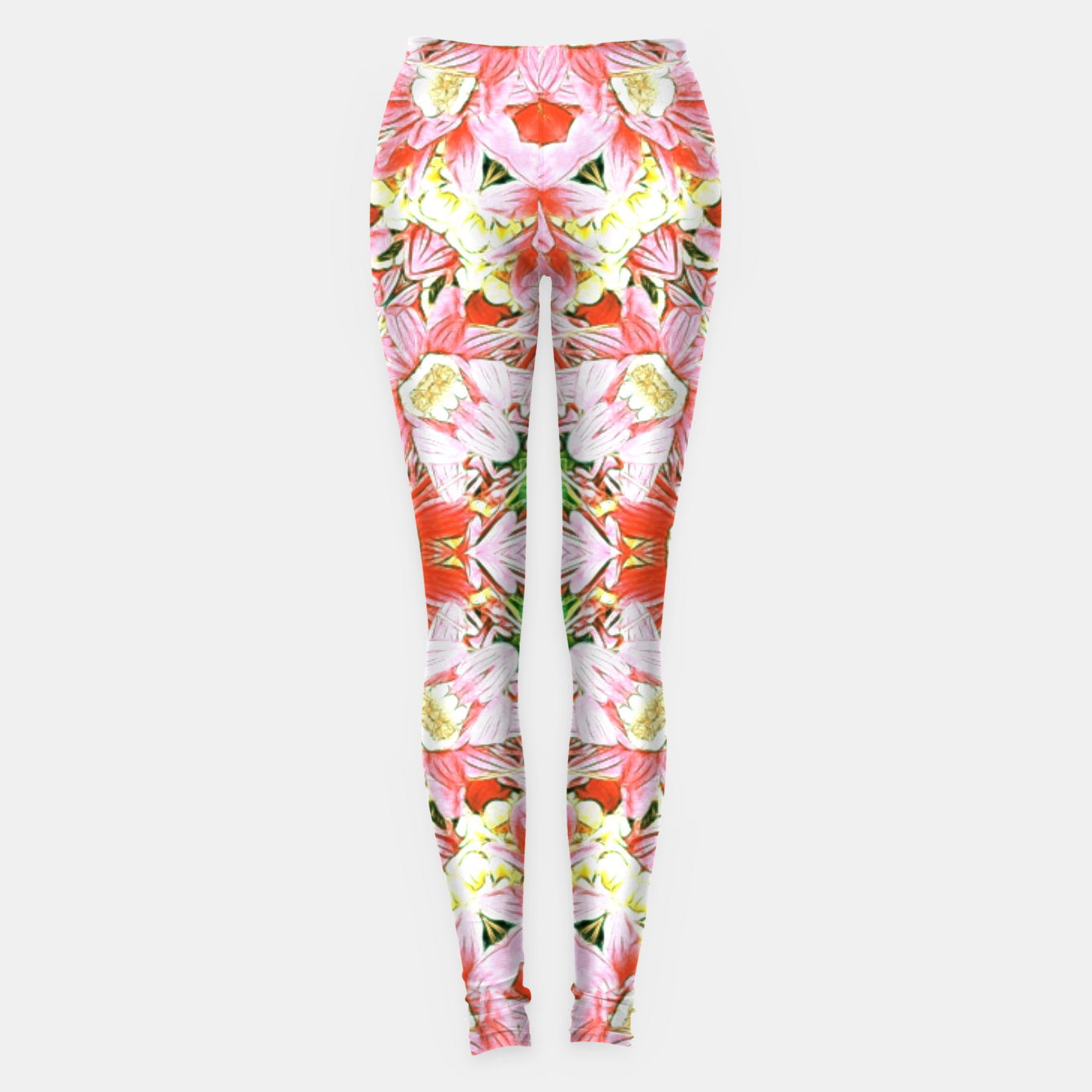 Image of K196 Abstract Pink Flowers  Leggings - Live Heroes