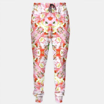 K196 Abstract Pink Flowers  Sweatpants thumbnail image