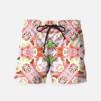 K196 Abstract Pink Flowers  Swim Shorts thumbnail image