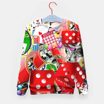 Gamblers Delight - Las Vegas Icons Kid's Sweater thumbnail image