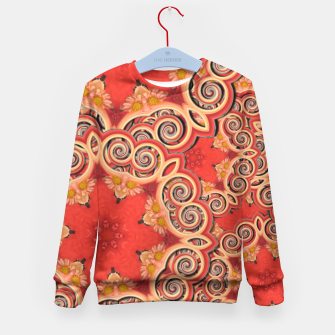 Gold 'n Rusty Curls Abstract  Kid's Sweater thumbnail image