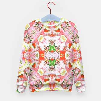 K196 Abstract Pink Flowers  Kid's Sweater thumbnail image