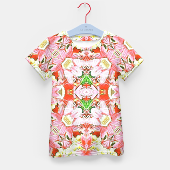 K196 Abstract Pink Flowers  Kid's T-shirt thumbnail image