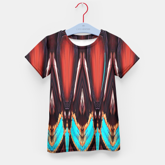 K172 Wood and Turquoise Abstract Kid's T-shirt thumbnail image