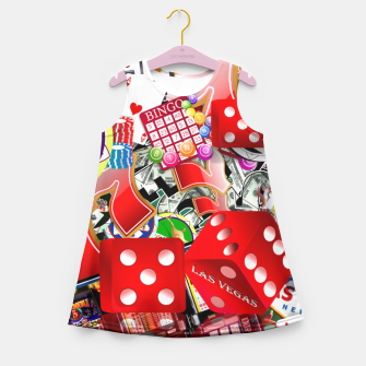 Gamblers Delight - Las Vegas Icons Girl's Summer Dress thumbnail image