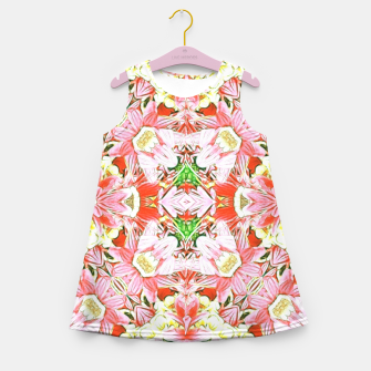 K196 Abstract Pink Flowers  Girl's Summer Dress thumbnail image