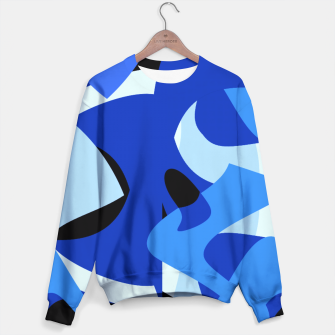 A-201 Abstract Blues Combo   Sweater thumbnail image