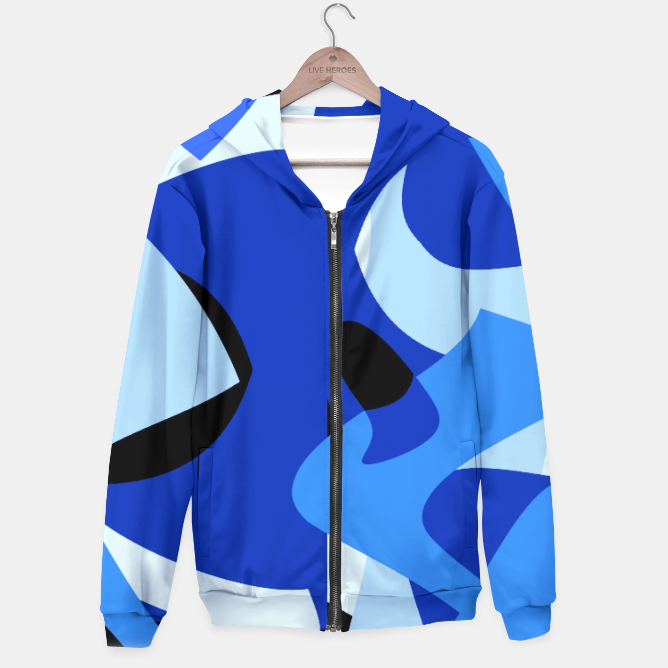 Image of A-201 Abstract Blues Combo   Hoodie - Live Heroes