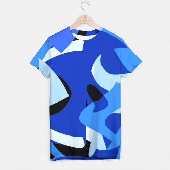 A-201 Abstract Blues Combo   T-shirt thumbnail image