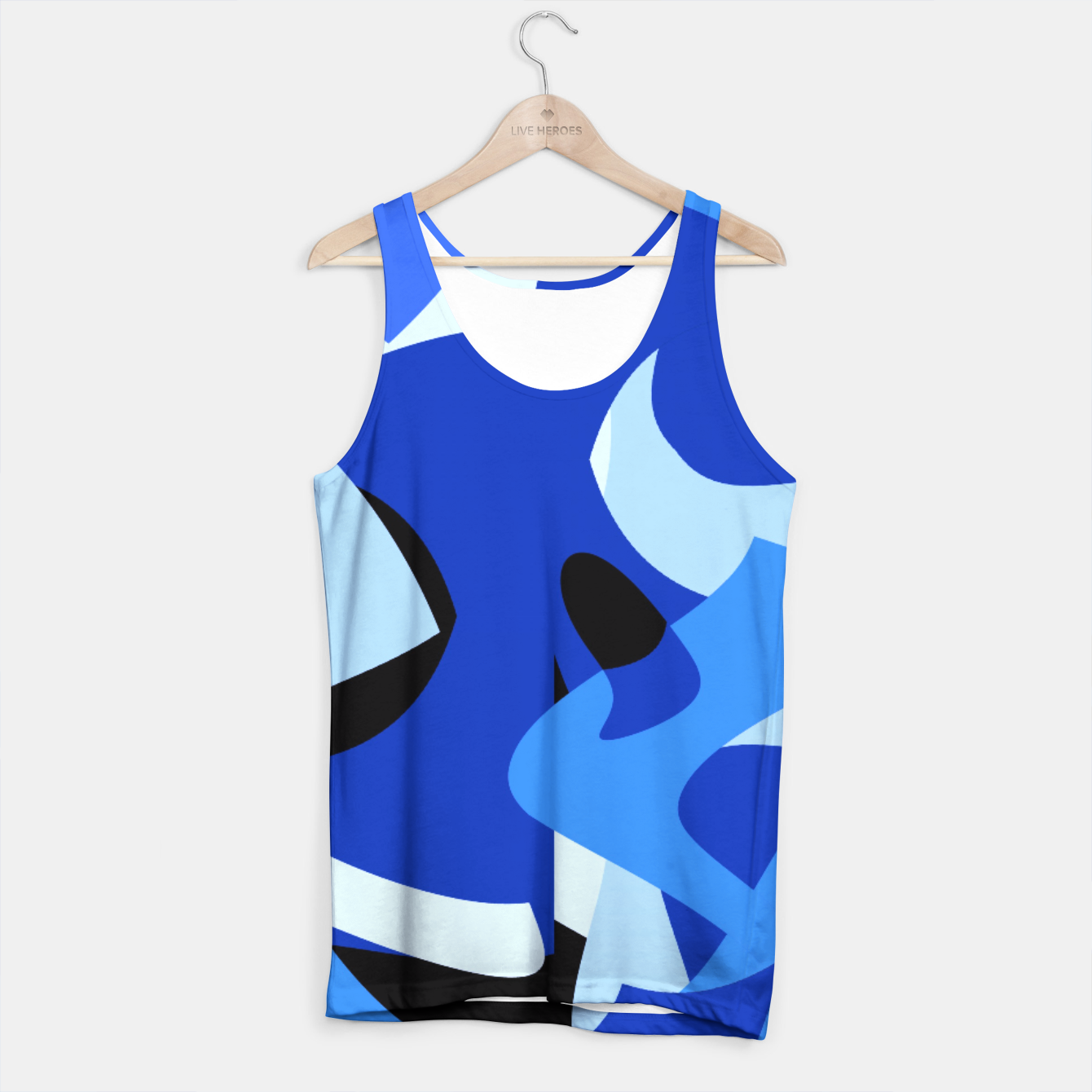 Image of A-201 Abstract Blues Combo   Tank Top - Live Heroes