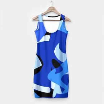 A-201 Abstract Blues Combo   Simple Dress thumbnail image