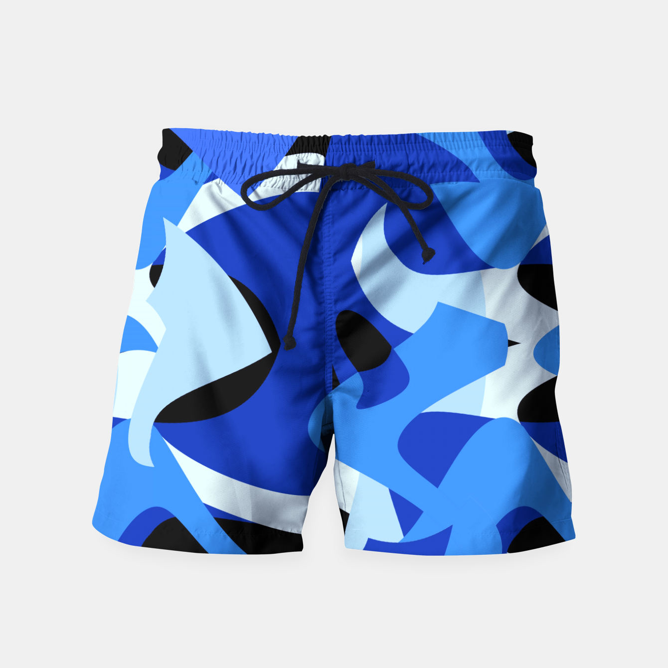 Image of A-201 Abstract Blues Combo   Swim Shorts - Live Heroes