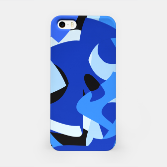 A-201 Abstract Blues Combo   iPhone Case thumbnail image