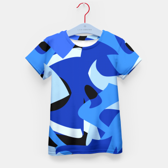 A-201 Abstract Blues Combo   Kid's T-shirt thumbnail image