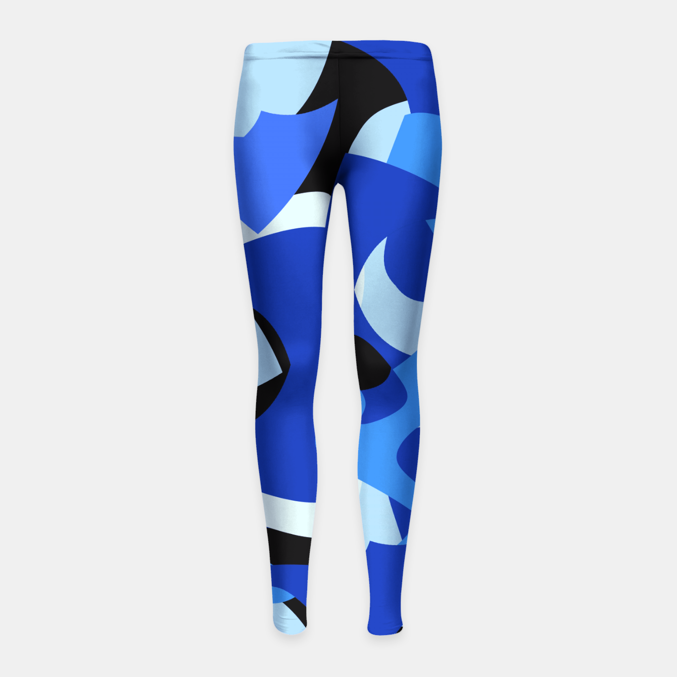 Image of A-201 Abstract Blues Combo   Girl's Leggings - Live Heroes