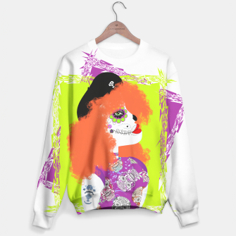 Thumbnail image of Day Of The Dead  Funky Red Head Sweater, Live Heroes