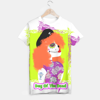 Thumbnail image of Day Of The Dead  Funky Red Head T-shirt, Live Heroes