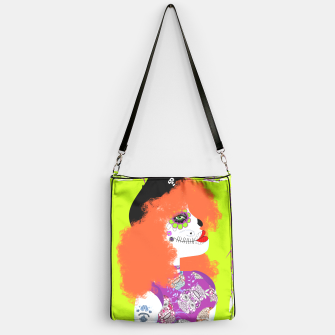 Thumbnail image of Day Of The Dead  Funky Red Head Handbag, Live Heroes