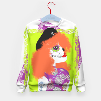 Thumbnail image of Day Of The Dead  Funky Red Head Kid's Sweater, Live Heroes