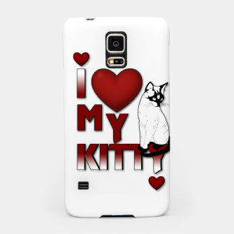 Thumbnail image of I Love My Kitty Cat Hearts Samsung Case, Live Heroes
