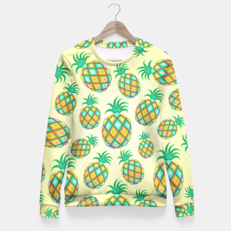 Thumbnail image of Pineapple Pastel Colors Pattern Fitted Waist Sweater, Live Heroes
