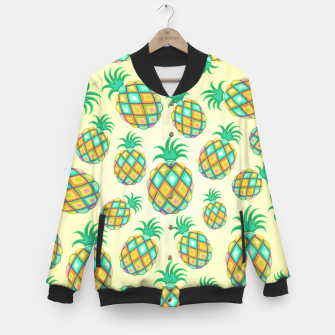 Thumbnail image of Pineapple Pastel Colors Pattern Baseball Jacket, Live Heroes