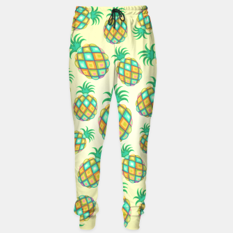 Thumbnail image of Pineapple Pastel Colors Pattern Sweatpants, Live Heroes
