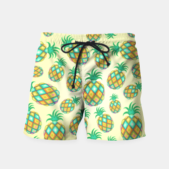 Pineapple Pastel Colors Pattern Swim Shorts thumbnail image