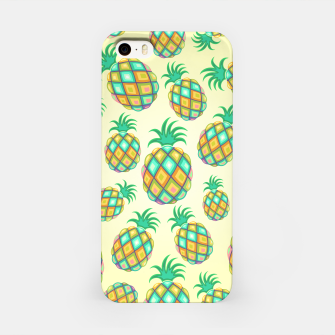 Pineapple Pastel Colors Pattern iPhone Case thumbnail image