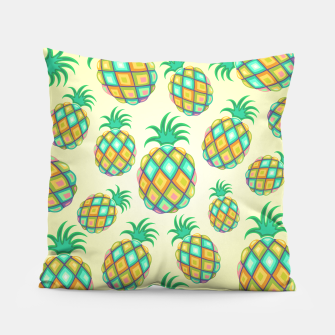 Pineapple Pastel Colors Pattern Pillow thumbnail image