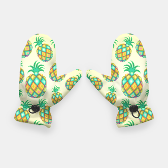 Thumbnail image of Pineapple Pastel Colors Pattern Gloves, Live Heroes