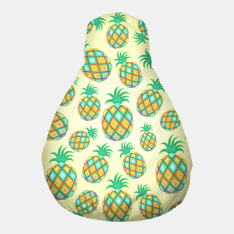 Thumbnail image of Pineapple Pastel Colors Pattern Pouf, Live Heroes