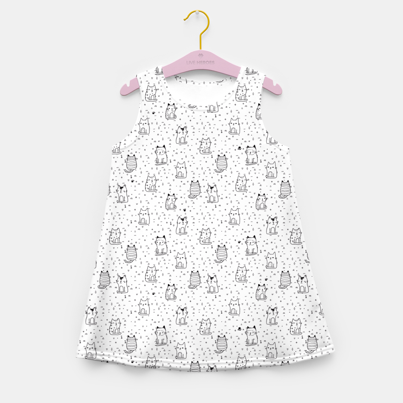 Image of Adorable little cats Girl's Summer Dress - Live Heroes